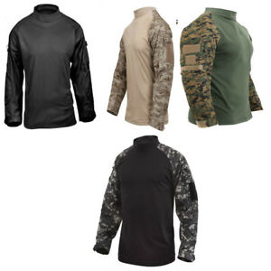 Tactical Airsoft Combat Long Sleeve Lightweight Shirt Rothco 45010 45020
