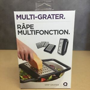 NEW, QUIRKY MULTI-GRATER with INTERCHANGEABLE STAINLESS STEEL PLATES