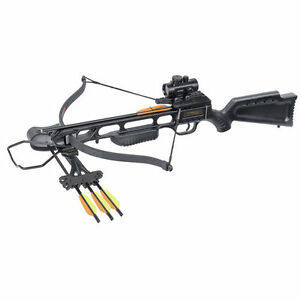 Outdoor Sporting Goods Archery Crossbow Bundle Kit Bowhunting Hunting Black