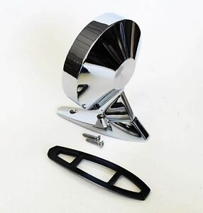 NEW 1964-1966 Ford Mustang Right Side Matching Mirror Remote Dummy Deluxe Chrome