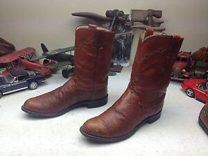 90222 JUSTIN DISTRESSED LEATHER WESTERN COWBOY TRAIL BOSS RANCH WORK BOOTS 9 D