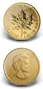 1000 Canadian Maple Leaf 1-Ounce Gold Coins (Dates of Our Choice)