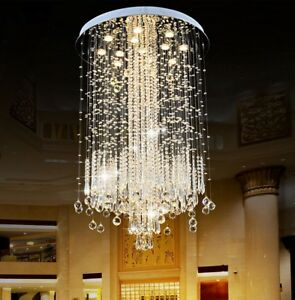 LED crystal Light K9 Clear Crystal Ceiling Lights Pendant Lamps Chandeliers New