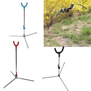 IRQ Archery Compound Bow Stand Hunting Holder Recurve Bow Rack Hanger Removable