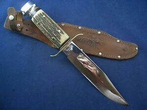 Vintage Sabre 171 Large Original Bowie Knife American Co.Germany with Sheath