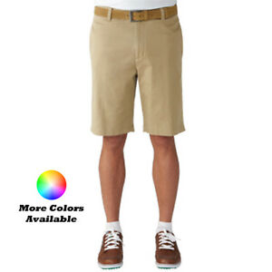 New Ashworth Golf Solid Stretch Flat Front Twill Shorts - Pick Size