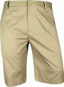 New Ashworth Golf Performance Synthetic Stretch Flat Front Shorts
