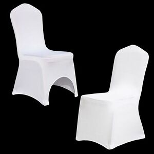 10/20/100 White/Black Spandex Fitted Folding Chair Covers Wedding Party Banquet