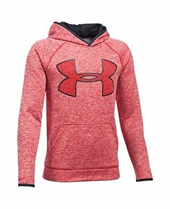 Under Armour Boys Storm Armour Fleece Twist Highlight Hoodie Red 600 #2S7