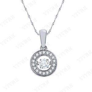 0.25ct Diamond Look Brilliance In Motion Pendant Necklace in 14k White Gold Over