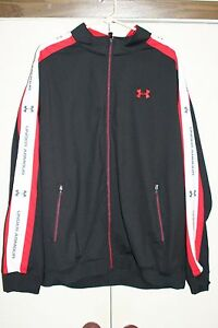 Under Armour Loose Track Jacket 2XL Chicago Bulls Poly Hip Athletic Multi Zip