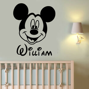 Disney Wall Decal Mickey Mouse Custom Name Vinyl Sticker Personalized Decor 16