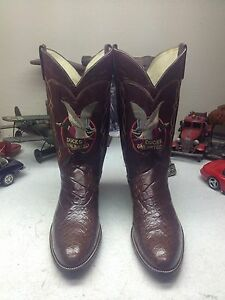 SPECIAL EDITION 1982 VINTAGE DAN POST DUCKS UNLIMITED USA ALLIGATOR BOOTS 10.5 E