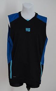 MENS NIKE FIT DRY TOP T SHIRT JERSEY SOLDIER BLACK BLUE SIZE XL XLARGE