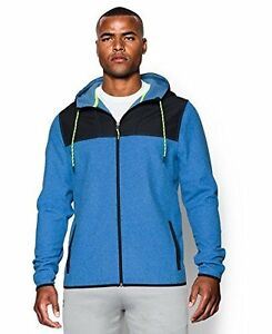 Under Armour Mens The ColdGear Infrared Fleece Full Zip Hoodie Large Blue Jet