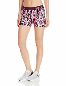Under Armour Womens HeatGear Armour Printed Shorty White 104 Large