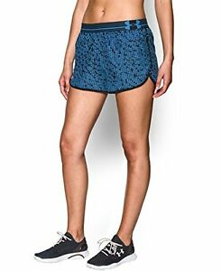 Under Armour Womens Printed Perfect Pace Short Jazz Blue 482 Large