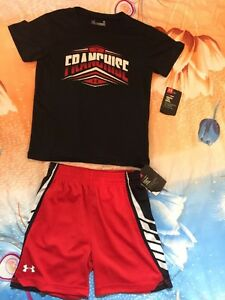 Boys Under Armour The Franchise Graphic & Shorts Side Panel Tech Size 3T Let