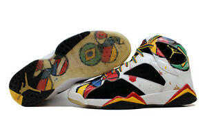 Nike Air Jordan VII 7 Retro OC WhtSport Red-Gold Miro Olympic 323213-161 SZ 10