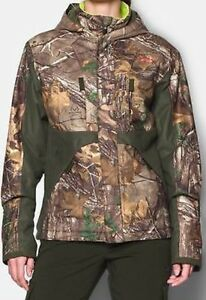 NWT Under Armour 1247075 Camo Gunpowder Jacket CGI Scent Control Storm Womens XL