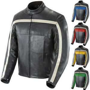 2015 Joe Rocket Old School Leather Street Protective Riding Motorcycle Jacket