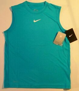 NIKE DRI-FIT BOY'S Athletic Sleeveless Shirt Size L