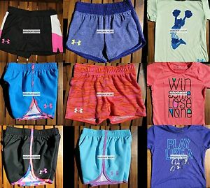 GIRLS SIZE 5 * UNDER ARMOUR * SHORTS * T-SHIRTS * HUGE LOT ~ 9pc $188 NWT
