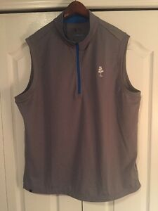 Adidas Golf Dri-Fit 12 Zip ShirtJacketVest: Mens Large-L -Solid Gray (NWT)