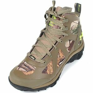 Under Armour Mens Speed Freek Chaos Waterproof Boots 10 Realtree Camo