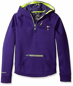 Under Armour Girls Storm ColdGear Infrared Dobson ½ Zip Hoodie Europa Purple