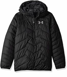 Under Armour Outerwear Boys CGR Anorak Hoodie Black Youth Large