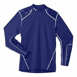 Under Armour Mens ColdGear Infrared Evo Fitted Mock Large Royal