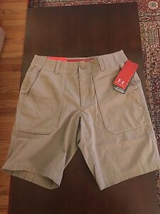 NWT Men's Under Armour 1256294 Utility Golf Athletic Shorts Canvas Beige 32 $80