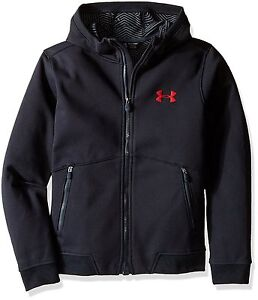 Under Armour Outerwear Boys ColdGear Dobson Softshell Hoodie Asphalt Heather