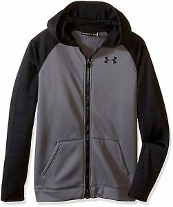 Under Armour Boys Storm Armour Fleece Full Zip Hoodie Graphite 040 Youth