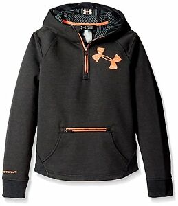 Under Armour Girls Storm ColdGear Infrared Dobson ½ Zip Hoodie Asphalt Heather