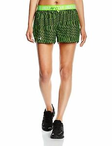 Under Armour Womens UA Play Up Printed Shorts Large HYPER GREEN