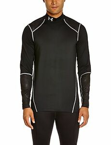 Under Armour Coldgear Infrared Evo Fitted Mock Top - Small - Black