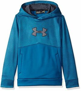 Under Armour Boys Storm Armour Fleece Mid Logo Hoodie Peacock 779 Youth Large