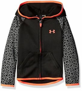 Under Armour Little Girls Chain Grid Hoodie Black 4