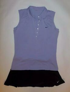 NIKE SHIRT AND SKIRT SET LAVENDER BLACK FIT DRY TENNIS OUTFIT RUNNING size XLL