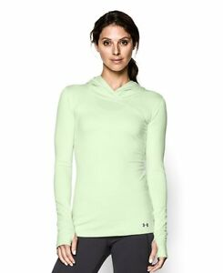 Under Armour Womens ColdGear Infrared EVO Hoodie Large SUGAR MINT
