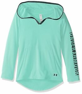Under Armour Girls Tech Hoodie Crystal 960 Youth Large
