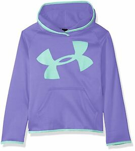 Under Armour Little Girls Ua Branded Long Sleeve Hoodie Violet Storm 5