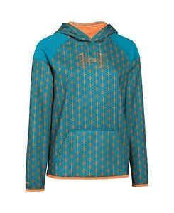 Under Armour Big Girls UA Armour Fleece Novelty Big Logo Hoodie Youth Large