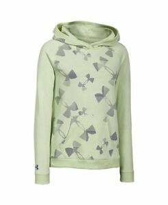 Under Armour Girls Kaleidelogo Hoody Minty  Steel  Europa Purple Small