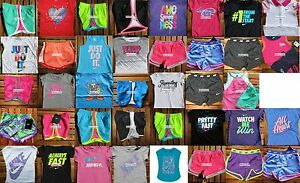 GIRLS SIZE 4T NIKE ~ RUNNING SHORTS ~ T-SHIRTS ~ HUGE LOT ~4 CHOICES ~up to $264