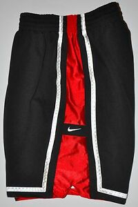 Nike Men's Black Red White Athletic Basketball Shorts Lined Medium; Length 8.5