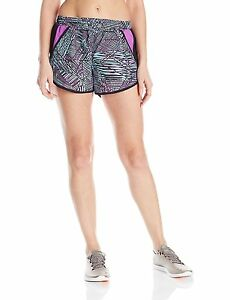 Under Armour Womens Fly-By Printed Run Short Sky Blue 916 Large