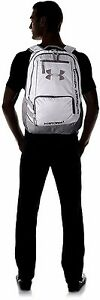 Backpack Under Armour Storm Hustle II Bag Book School Laptop WhiteGraphite